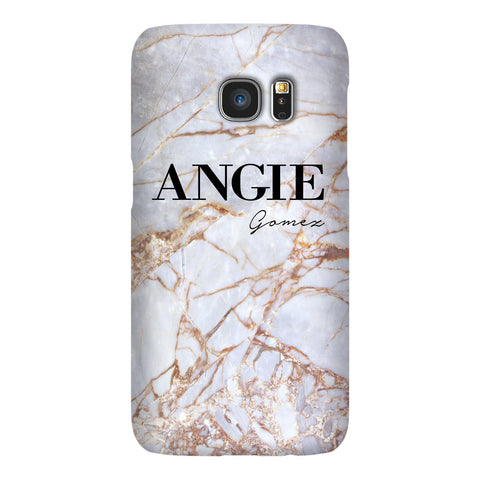 Personalised Fragment Marble Name Samsung Galaxy S7 Edge Case