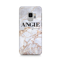 Personalised Fragment Marble Name Samsung Galaxy S9 Case