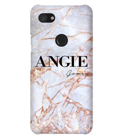 Personalised Fragment Marble Name Google Pixel 3a XL Case