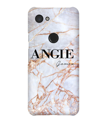 Personalised Fragment Marble Name Google Pixel 3a Case