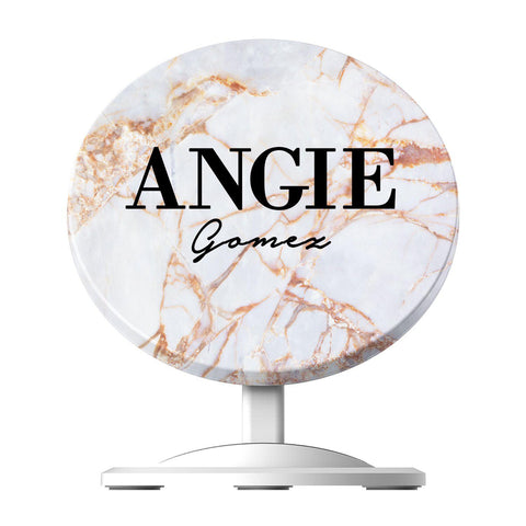 Personalised Fragment Marble Name Wireless Charger