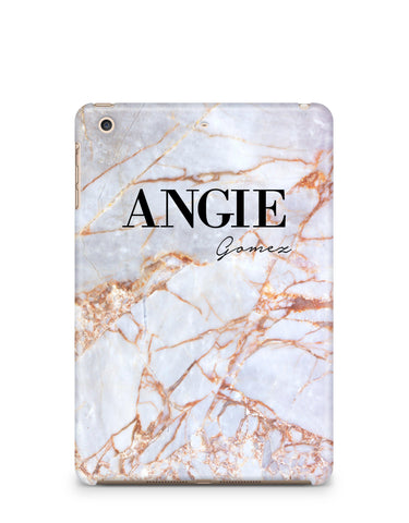Personalised Fragment Marble Name Names iPad Case