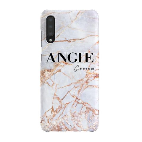 Personalised Fragment Marble Name Samsung Galaxy A70 Case