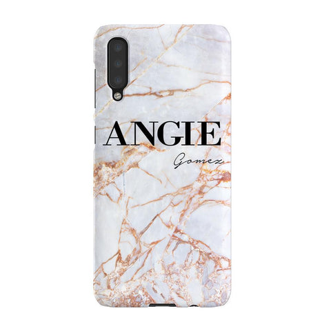 Personalised Fragment Marble Name Samsung Galaxy A50 Case