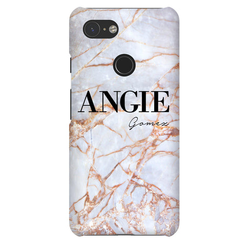 Personalised Fragment Marble Name Google Pixel 3 Case