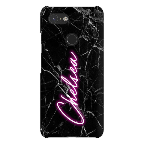 Personalised Neon Name Google Pixel 3 Case