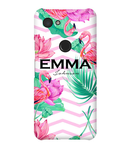 Personalised Flamingo Name Google Pixel 3a Case