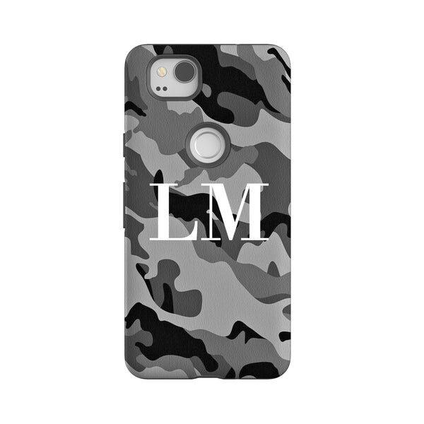 Personalised Grey Camouflage  Google Pixel 2 Case