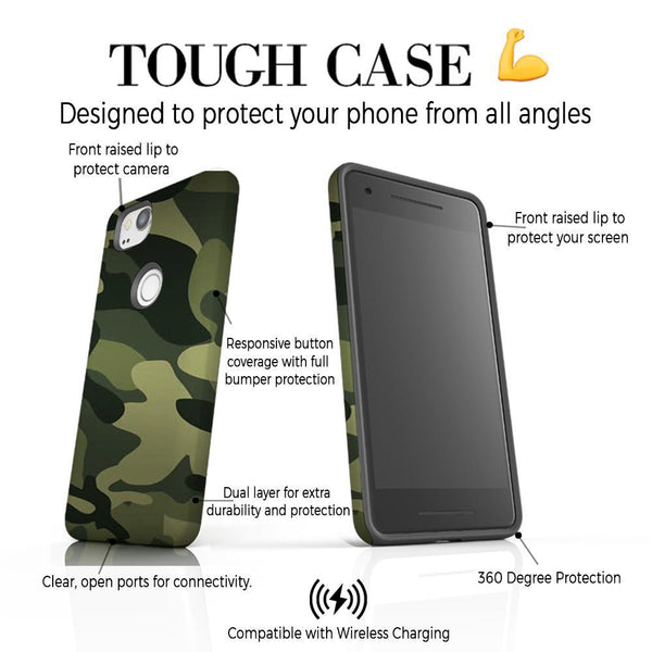 Personalised Green Camouflage Google Pixel 2 Case