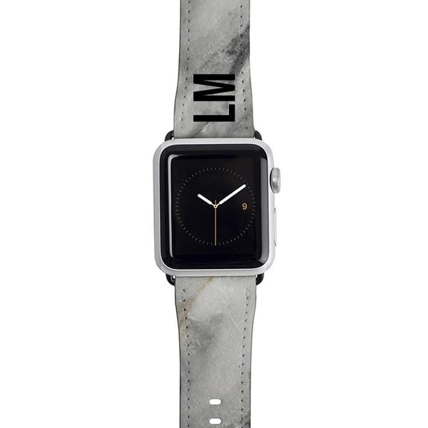 Personalised Grey Stone Marble Apple Watch Strap