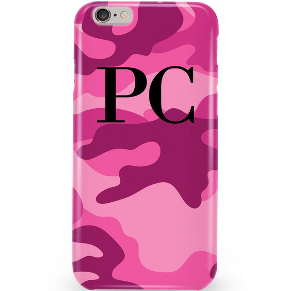 Personalised Hot Pink Camouflage Initials iPhone 6 Plus/6s Plus Case