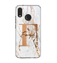 Personalised Cracked Marble Bronze Initials Huawei P20 Lite Case