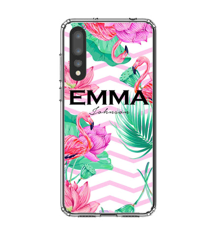 Personalised Flamingo Name Huawei P20 Pro Case
