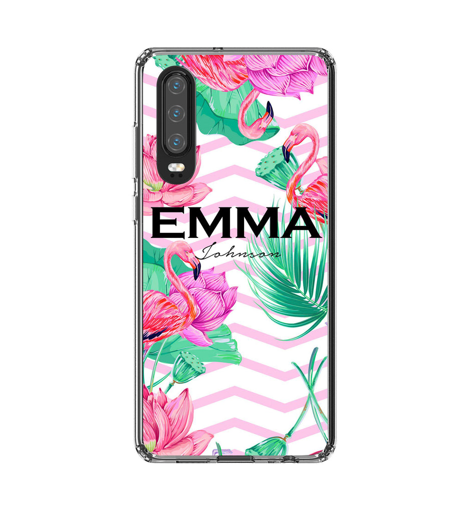 Personalised Flamingo Name Huawei P30 Case