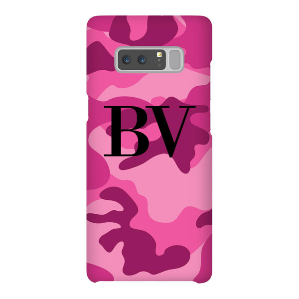Personalised Hot Pink Camouflage Initials Samsung Galaxy Note 8 Case