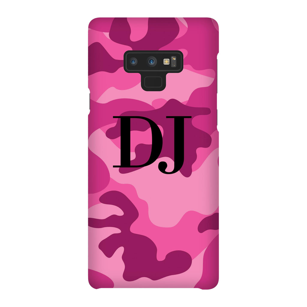 Personalised Hot Pink Camouflage Initials Samsung Galaxy Note 9 Case