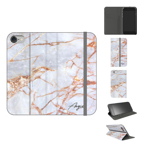 Personalised Fragment Marble Name iPhone 7 Case