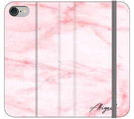 Personalised Cotton Candy Heart Marble Initials iPhone 8 Case