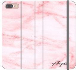 Personalised Cotton Candy Heart Marble Initials iPhone 7 Plus Case