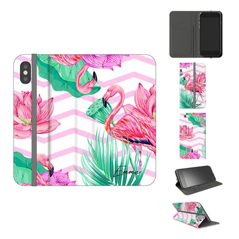 Personalised Flamingo Name iPhone X Case