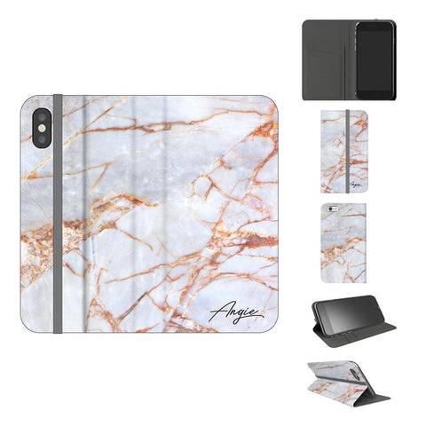 Personalised Fragment Marble Name iPhone X Case