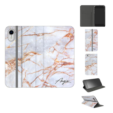 Personalised Fragment Marble Name iPhone XR Case