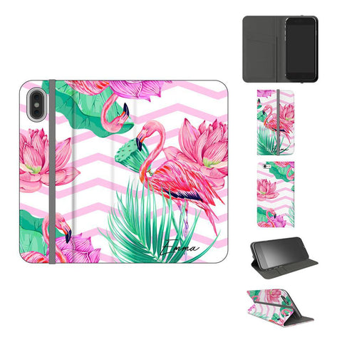 Personalised Flamingo Name iPhone XS Case