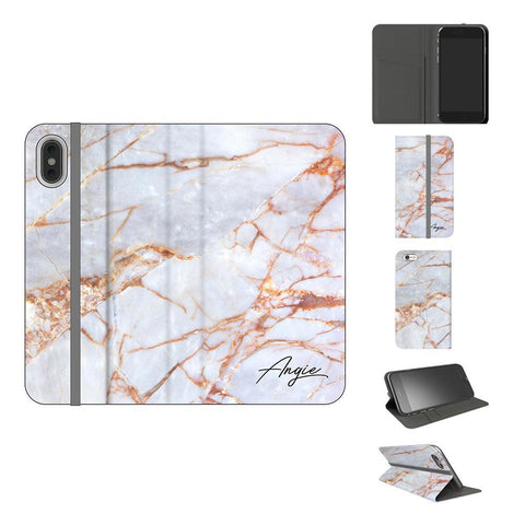 Personalised Fragment Marble Name iPhone XS Case