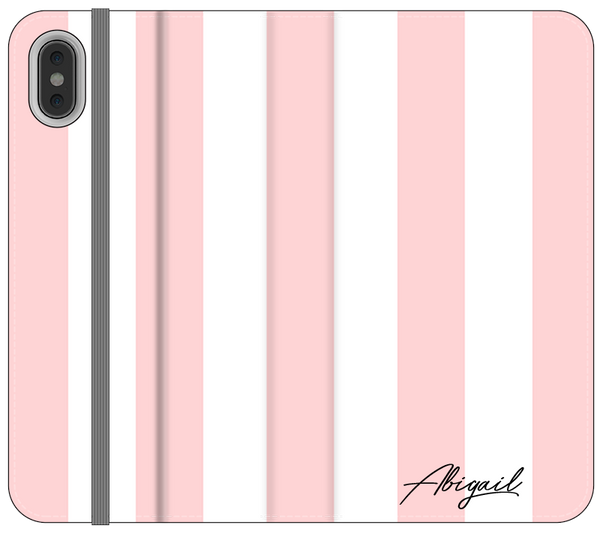 Personalised Bloom Stripe iPhone XS Max Case