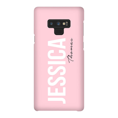 Personalised Bloom Side Name Samsung Galaxy Note 9 Case