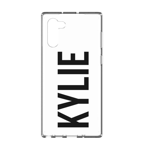 Personalised Name Samsung Galaxy Note 10 Clear Case
