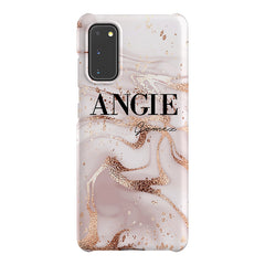 Personalised Liquid Marble Name Samsung Galaxy S20 Case