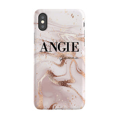 Personalised Liquid Marble Name iPhone XS Case