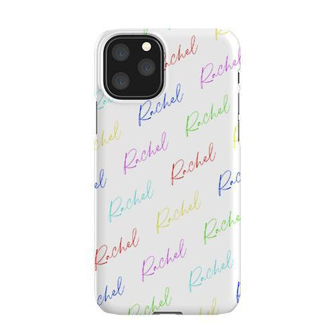 Personalised Multicolor Script Name iPhone 11 Pro Case