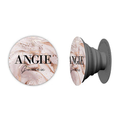 Personalised Liquid Marble Name Phone Grip