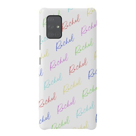 Personalised Multicolor Script Name Samsung Galaxy A51 5G Case