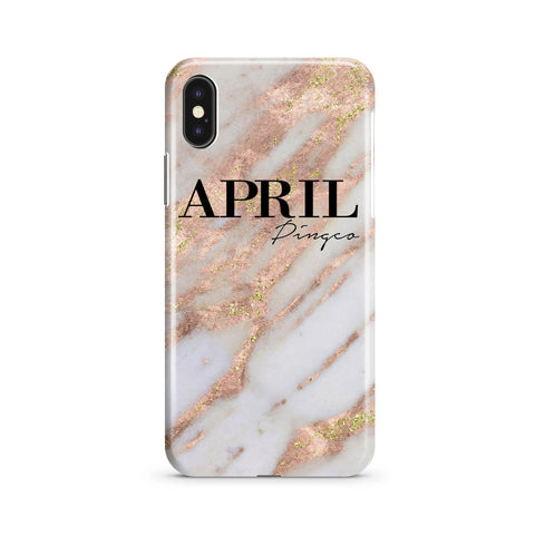 Personalised Aprilia Marble Name iPhone XS Max Case