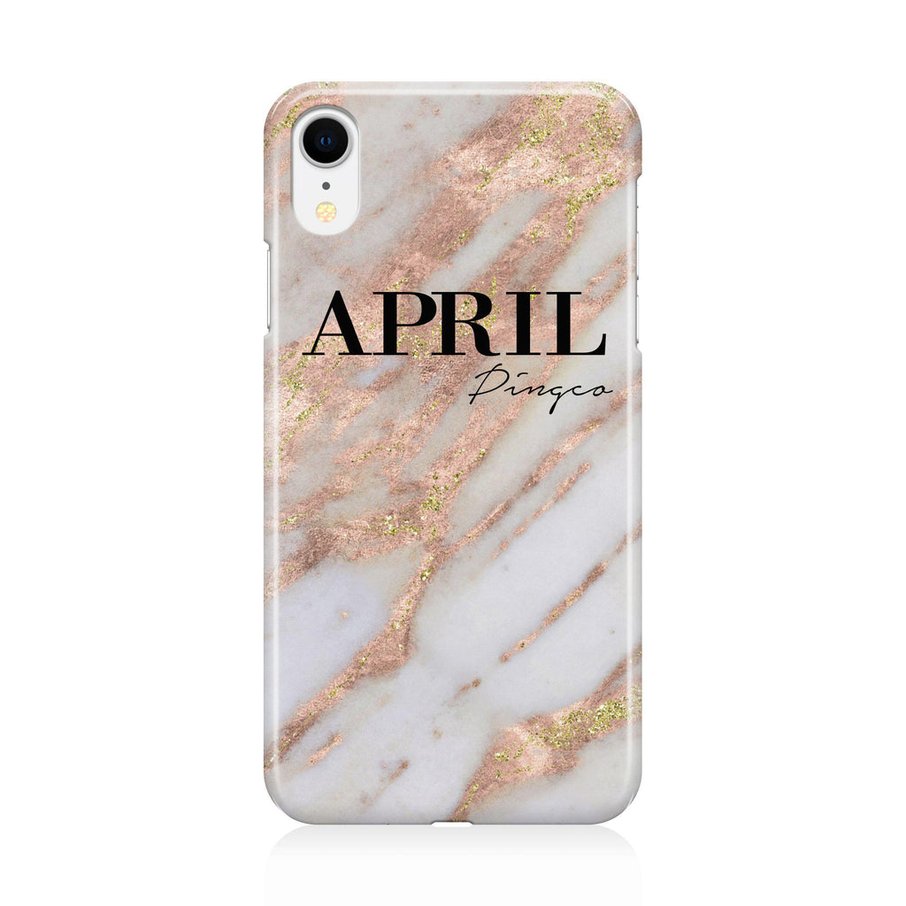 huge selection of 47cbd cc5ee Personalised Aprilia Marble Name iPhone XR Case