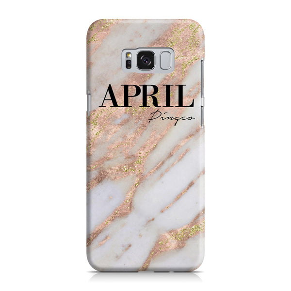 Personalised Aprilia Marble Name Samsung Galaxy S8 Case