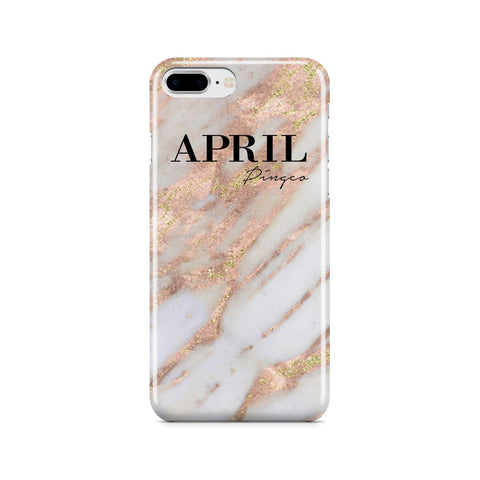 Personalised Aprilia Marble Name iPhone 8 Plus Case