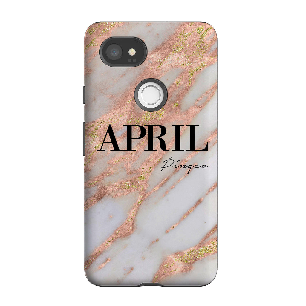 Personalised Aprilia Marble Name Google Pixel 2 XL Case