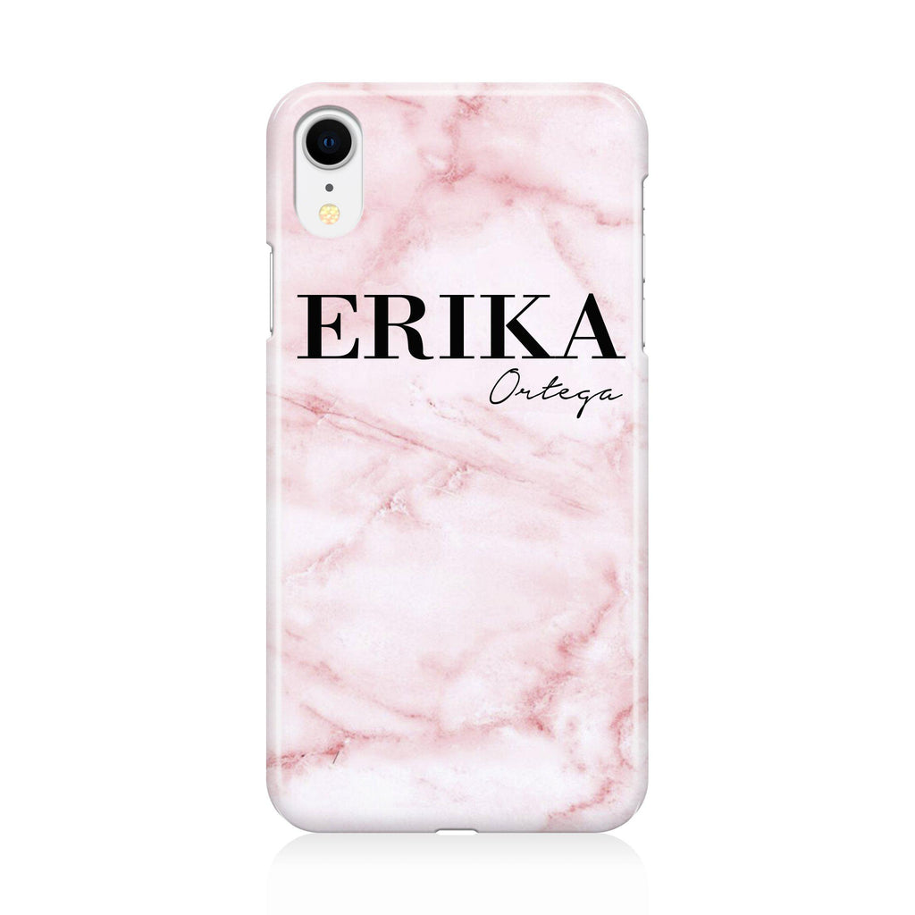 Personalised Cotton Candy Marble Name iPhone XR Case