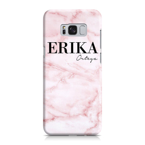 Personalised Cotton Candy Marble Name Samsung Galaxy S8 Case
