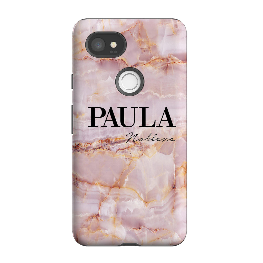 Personalised Natural Pink Name Google Pixel 2 XL Case