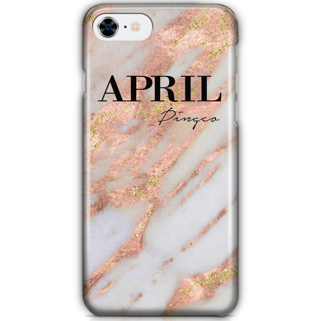 Personalised Aprilia Marble Name iPhone 8 Case