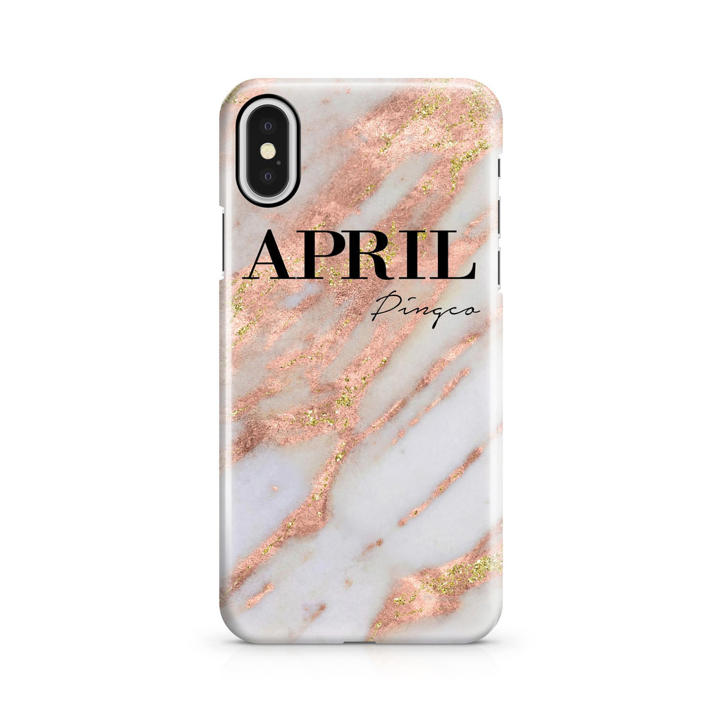 Personalised Aprilia Marble Name iPhone X Case