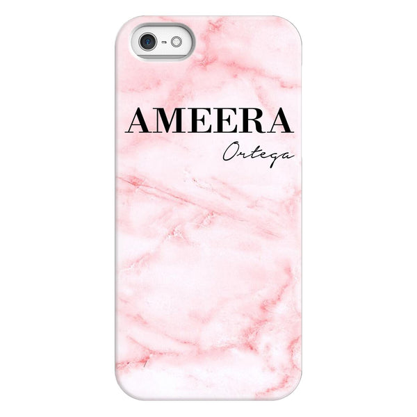 Personalised Cotton Candy Marble Name iPhone 5/5s/SE (2016) Case