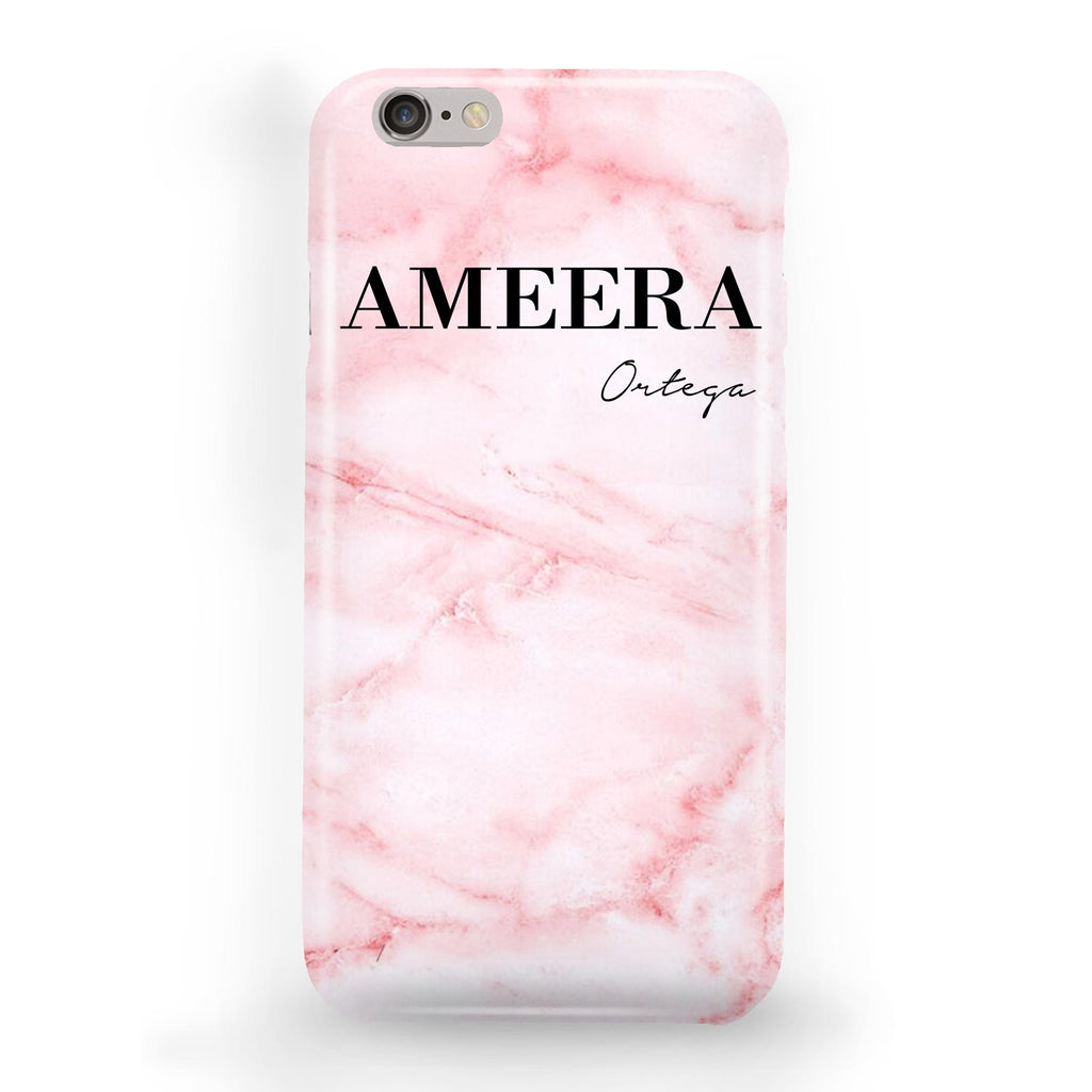 Personalised Cotton Candy Marble Name iPhone 6/6s Case