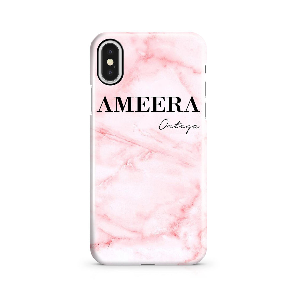 Personalised Cotton Candy Marble Name iPhone X Case