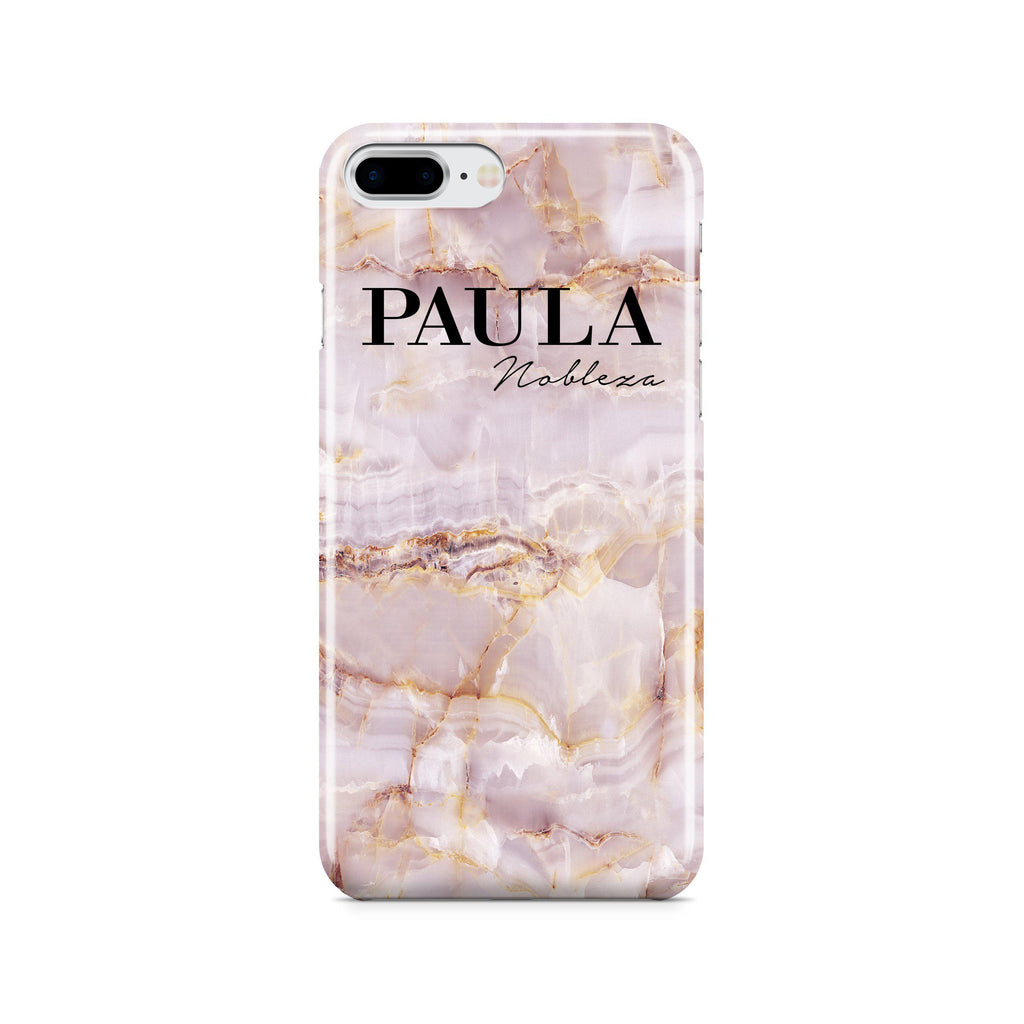 finest selection d33c5 9ee16 Personalised Natural Pink Marble Name iPhone 7 Plus Case
